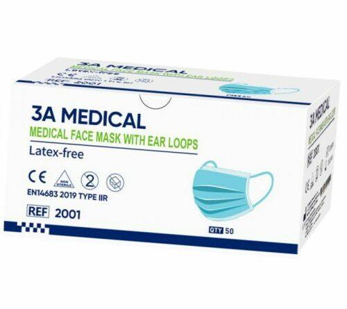 3A Medical Chirurgisch mondmasker IIR : FFP1 50 stuks